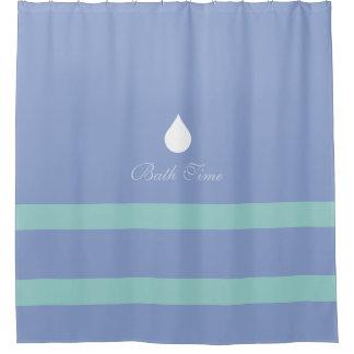 青い浴室のためのシャワー・カーテン シャワーカーテン