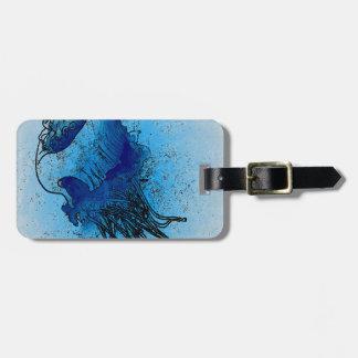 青い海のくらげ ラゲッジタグ