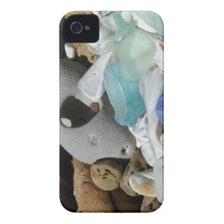 青い海のガラスブラックベリーはっきりしたなカバービーチ Case-Mate iPhone 4 ケース