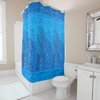 青い海のシャワー・カーテン シャワーカーテン