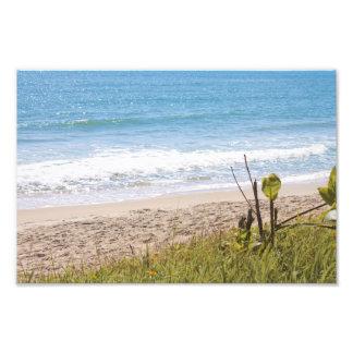 青い海のビーチは写真を振ります フォトプリント
