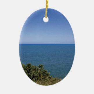 青い海の写真撮影 セラミックオーナメント