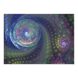 青い海の空のフラクタルの芸術 カード