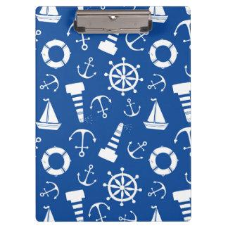 青い海パターン クリップボード