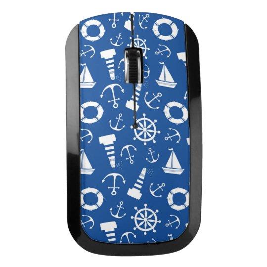 青い海パターン ワイヤレスマウス