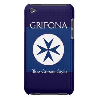 青い海賊のスタイルの八角形の十字 Case-Mate iPod TOUCH ケース