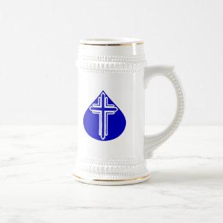 青い涙の白い十字 ビールジョッキ
