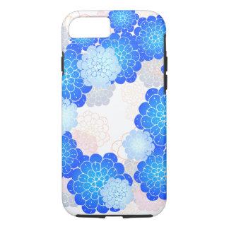 青い深いによっては電話箱が開花します iPhone 8/7ケース