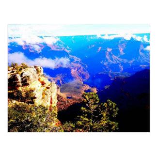 青い渓谷の雲 ポストカード