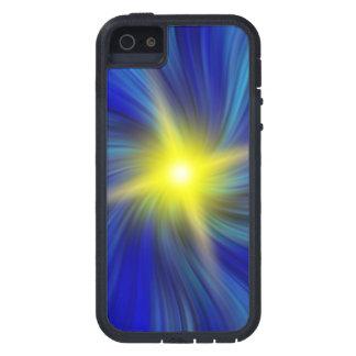 青い渦のiPhone 5/5sの箱のスターバスト iPhone SE/5/5s ケース