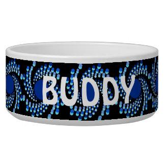 青い渦巻くことは点を打ちます(背景色を選んで下さい) 犬の水皿