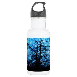 青い渦巻の影 ウォーターボトル