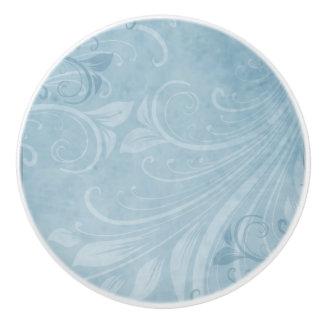 青い渦巻 セラミックノブ