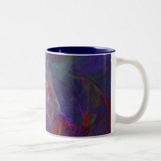 青い渦巻 ツートーンマグカップ