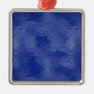 青い渦巻 メタルオーナメント