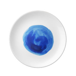 青い渦巻-芸術的なプレート 磁器プレート