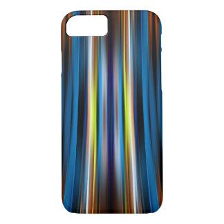 青い湾曲ラインパターン iPhone 8/7ケース