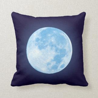 青い満月 クッション