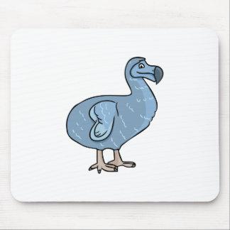 青い漫画のドードーの鳥 マウスパッド