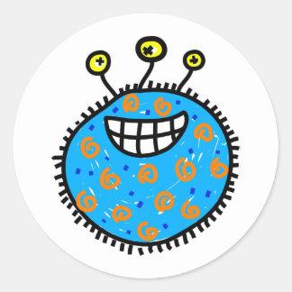 青い漫画の細菌 ラウンドシール
