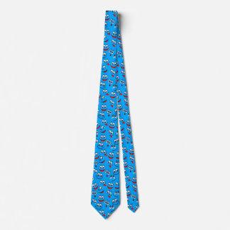 青い漫画の顔パターン ネクタイ