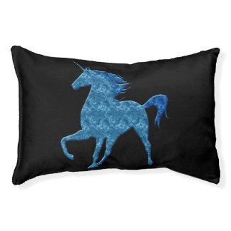 青い火のユニコーン犬のベッド