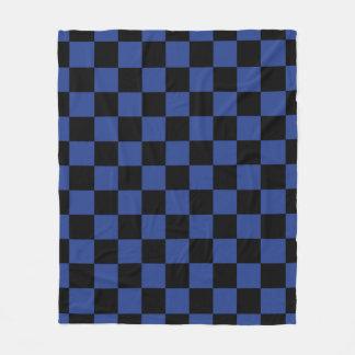 青い点検 フリースブランケット
