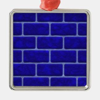 青い煉瓦 メタルオーナメント