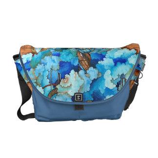 青い煙 メッセンジャーバッグ