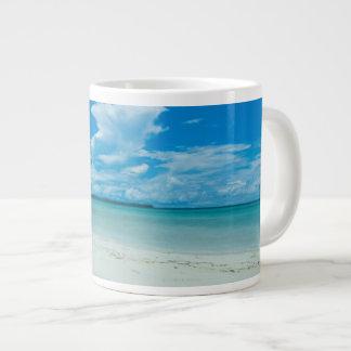 青い熱帯海景、パラオ諸島 ジャンボコーヒーマグカップ