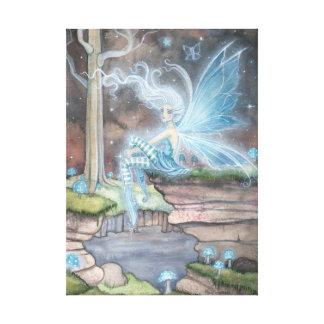 青い燃え差しのファンタジーの妖精の芸術のキャンバスプリント キャンバスプリント