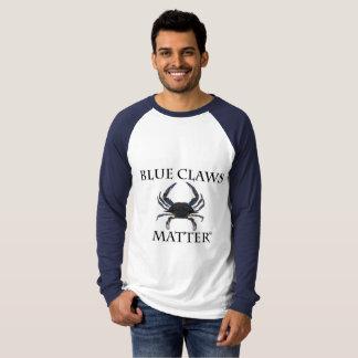 青い爪の問題-長袖のRaglanのTシャツ Tシャツ