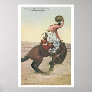 青い犬のシャイエンヌのフロンティアの日のEverett McGucin ポスター
