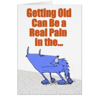 青い犬の苦痛 カード