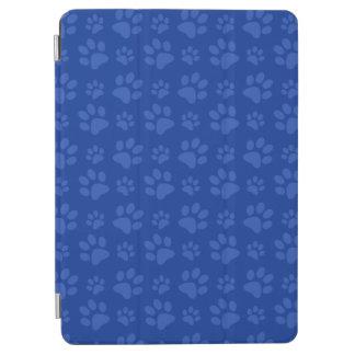 青い犬の足のプリントパターン iPad AIR カバー