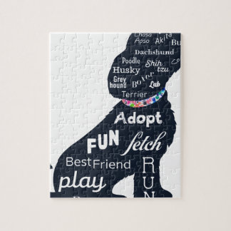青い犬 ジグソーパズル