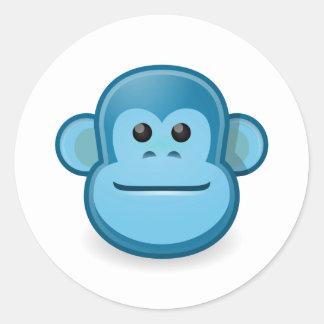 青い猿 ラウンドシール