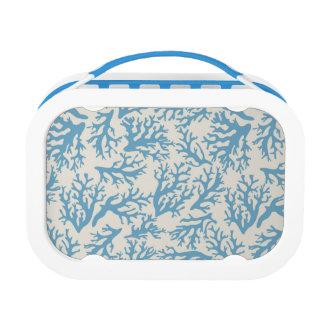 青い珊瑚パターン ランチボックス