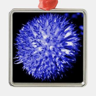 青い球の花 メタルオーナメント