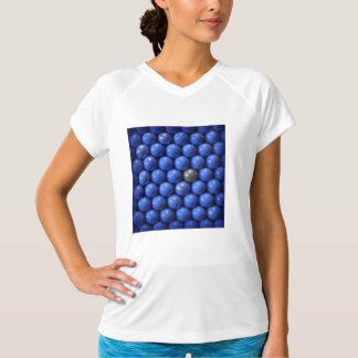 青い球のsymmmetricalデザイン tシャツ
