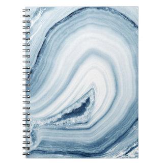 青い瑪瑙のデザイン ノートブック