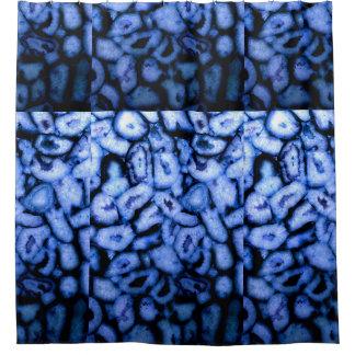 青い瑪瑙 シャワーカーテン
