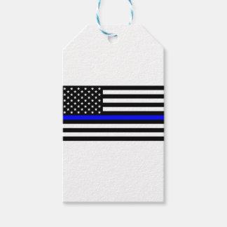 青い生命問題-米国の旗の警察はブルーラインを薄くします ギフトタグ