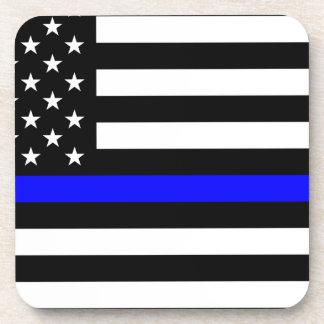 青い生命問題-米国の旗の警察はブルーラインを薄くします コースター