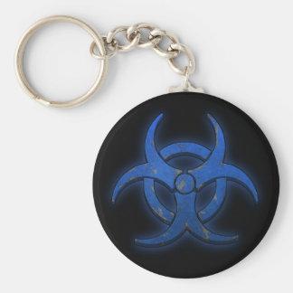 青い生物学的災害[有害物質] キーホルダー
