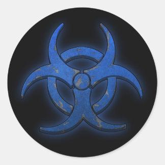 青い生物学的災害[有害物質] ラウンドシール