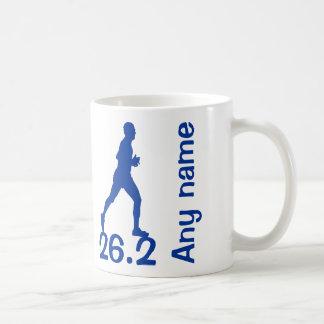 青い男性のマラソン選手のマグ26.2マイル コーヒーマグカップ