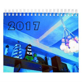 青い画像カレンダー2017 カレンダー