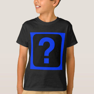 青い疑門符情報区域 Tシャツ