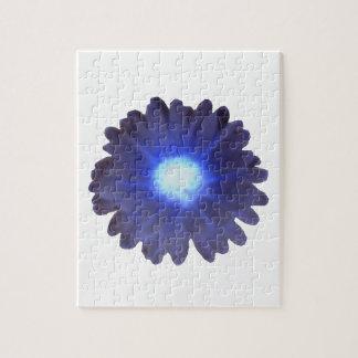 青い白熱マリーゴールドのパズル ジグソーパズル